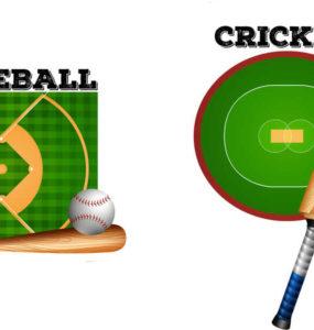 baseball and cricket